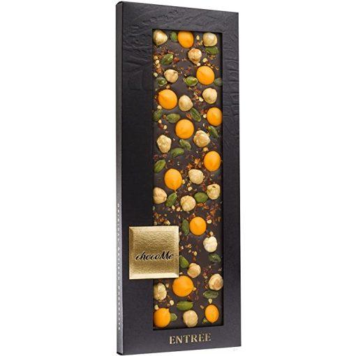 ChocoMe étcsokoládé (chili, narancsos pasztilla, piemont-i mogyoró, brontei pisztácia) -F107