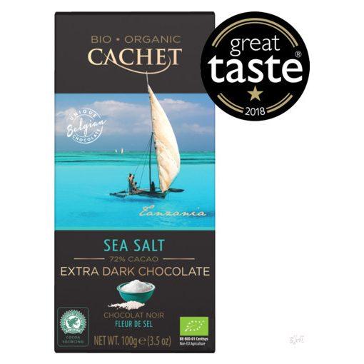 Cachet Bio étcsokoládé tengeri sós 100g