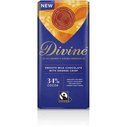 Divine tejcsokoládé narancsos 90g