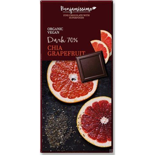 Benjamissimo étcsokoládé chia maggal és grapefruittal 70g