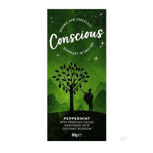 CONSCIOUS Peru étcsokoládé borsmentás 60g