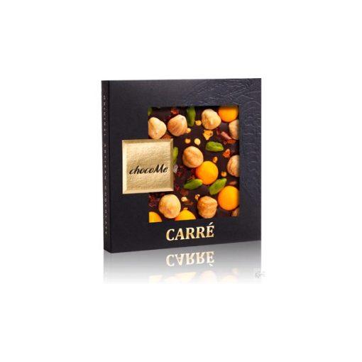ChocoMe étcsokoládé (mogyoró, chili, narancsos csoki, pisztácia) - 50g F107