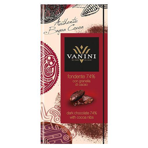 Vanini 74% étcsokoládé kakaóbabbal 100g