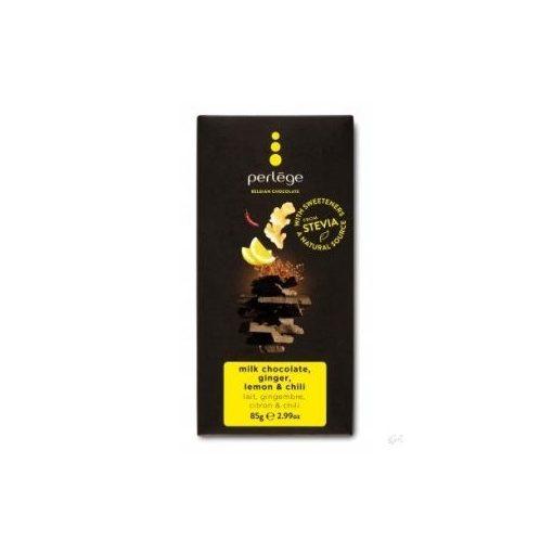 Perlege cukormentes/diabetikus étcsokoládé citrom, gyömbér, chili 85g