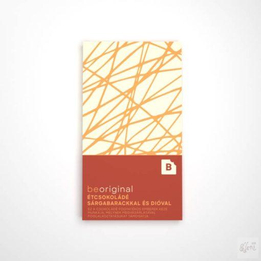 Besweet étcsokoládé sárgabarackos-diós 70g