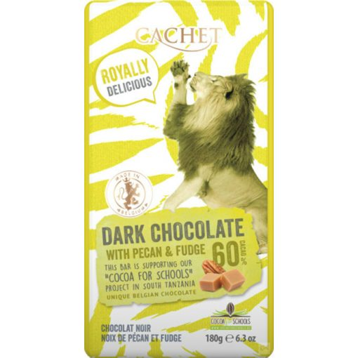 Cachet 60% étcsokoládé karamellizált pekándió 180g