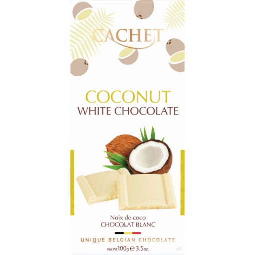 Cachet fehércsokoládé kókuszos 100g