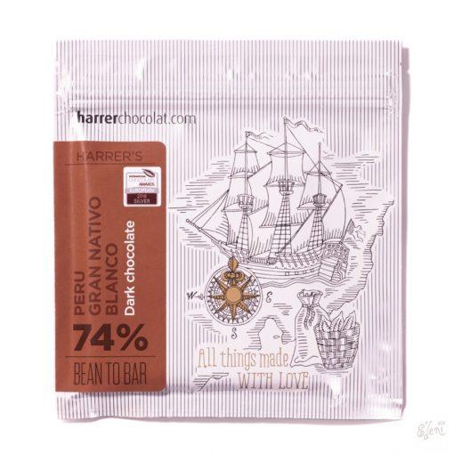 Harrer Peru 74% étcsokoládé Gran Nativo Blanco 50g