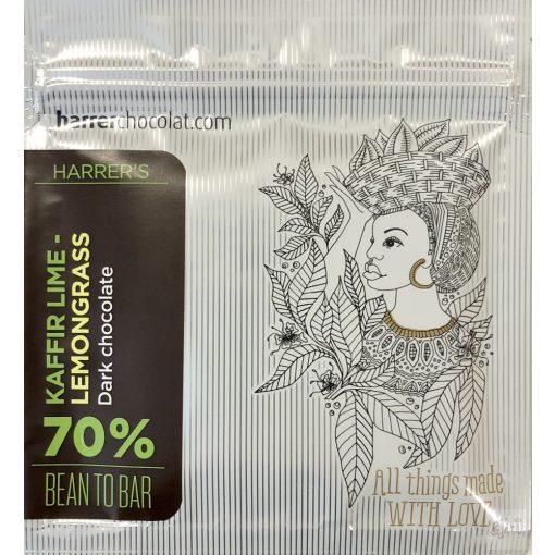 Harrer 70% étcsokoládé kaffir lime-citromnéd 50g