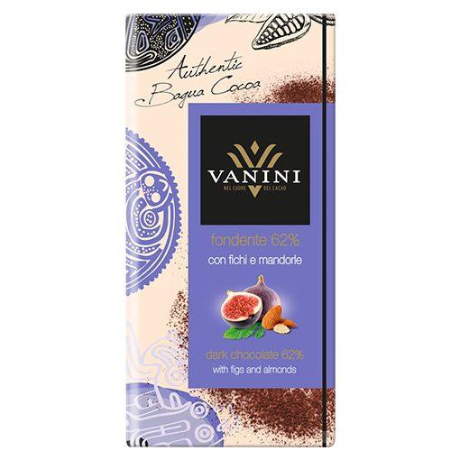 Vanini étcsokoládé fügével és mandulával 100g