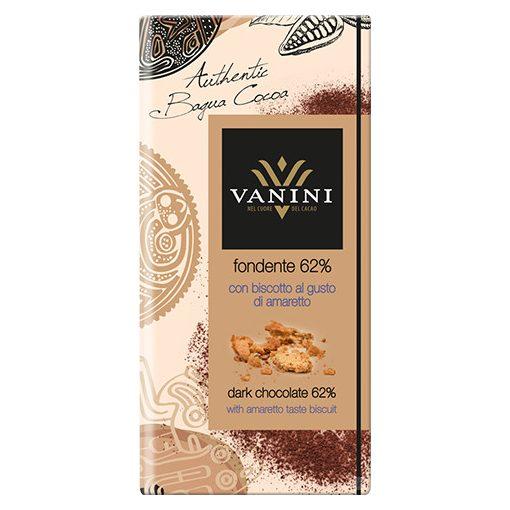 Vanini étcsokoládé amaretto kekszel 100g