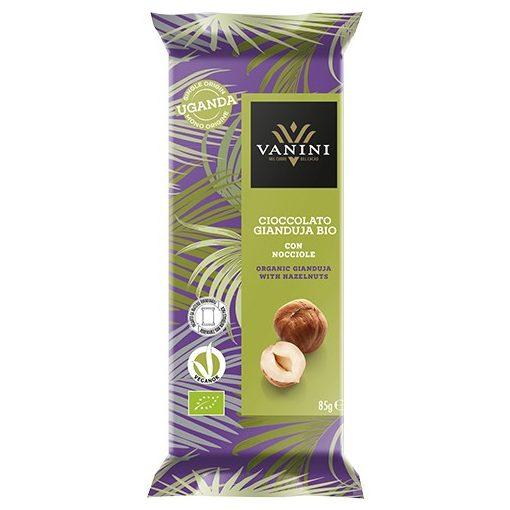 VANINI Uganda tejcsokoládé Gianduja- mogyorós 100g