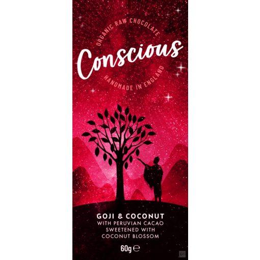 CONSCIOUS Peru étcsokoládé goji bogyó-kókusz 60g
