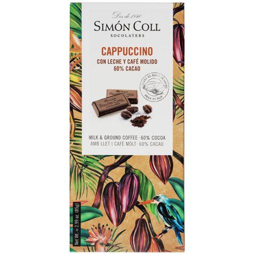 Simon Coll étcsokoládé tejjel és kávéval 85g