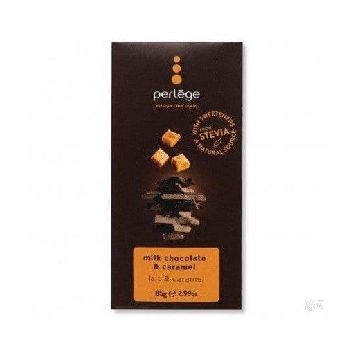 Perlege cukormentes tejcsokoládé karamellás 85g