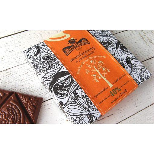 Rózsavölgyi 40% tejcsokoládé mandarin 70g