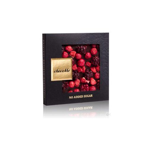 ChocoMe cukormentes étcsokoládé (ribizli, szeder, eper) 50g - NS102