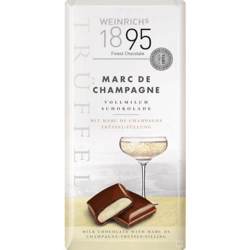 Weinrich's tejcsokoládé pezsgős töltelékkel 100g
