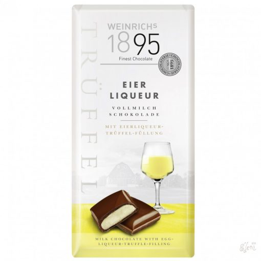 Weinrich's tejcsokoládé tojáslikörrel töltve 100g