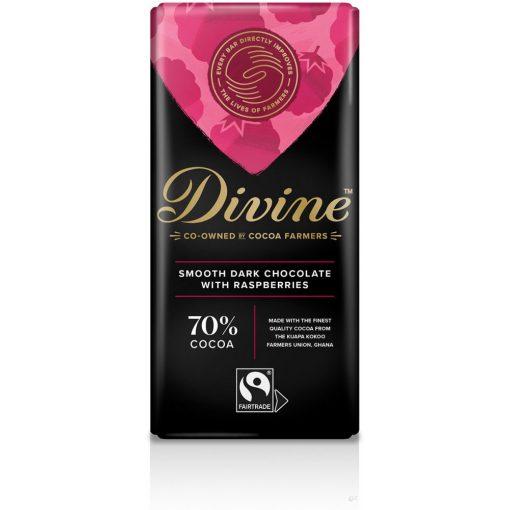 Divine 70% étcsokoládé málnás 90g