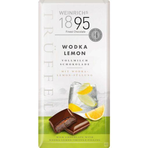 Weinrich's tejcsokoládé citromos-vodkás trüffelkrémmel töltve 100g