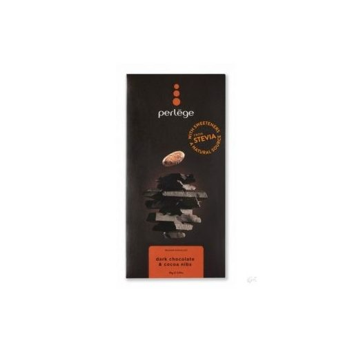 Perlege cukormentes/diabetikus étcsokoládé kakaóbabos 85g