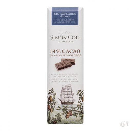 Simon Coll cukormentes/diabetikus étcsokoládé 25g