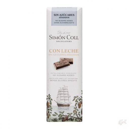Simon Coll cukormentes/diabetikus tejcsokoládé 25g