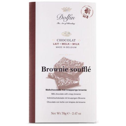 Dolfin tejcsokoládé ropogós brownie 70g