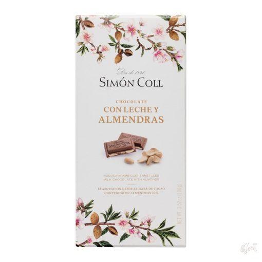 SImon Coll tejcsokoládé mandulás 100g