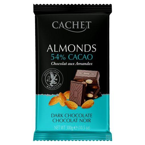 Cachet étcsokoládé mandulás 300g
