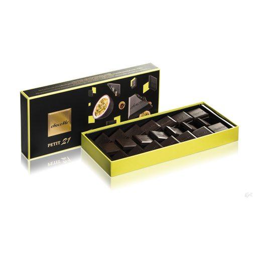 ChocoMe Petit 21 - karamell és passion fruit töltelékkel, fekete szezámmaggal