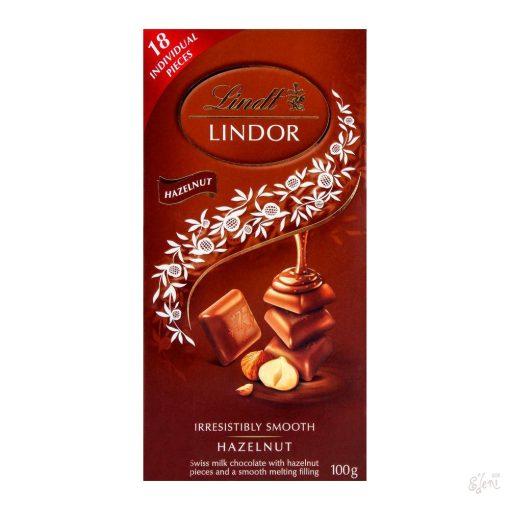 Lindt Lindor tejcsokoládé mogyorós 100g