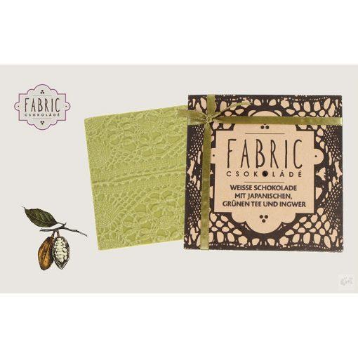 Fabric fehércsokoládé japán zöldtea-gyömbér 85g