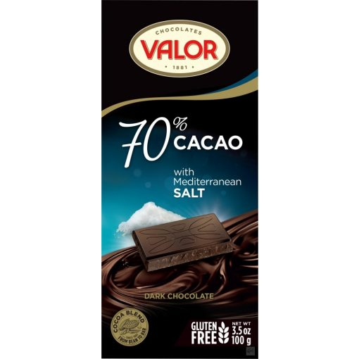 Valor 70% étcsokoládé tengerisós 100g