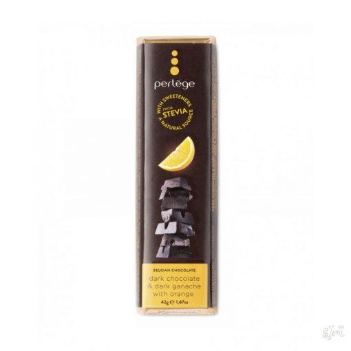 Perlege cukormentes/diabetikus étcsokoládé narancsos 42g