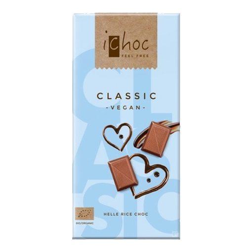 iChoc Bio rizstejes tejcsokoládé 80g