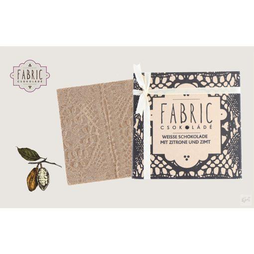 Fabric  fehér csokoládé citrom fahéj 85g
