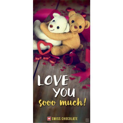 Fantastic tejcsokoládé 3D-s 'Love you so much!' 100g