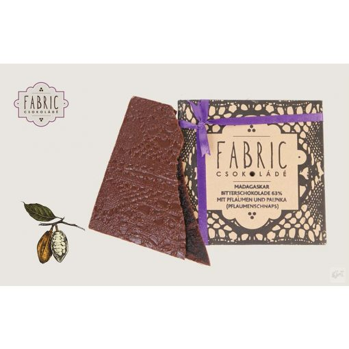 Fabric étcsokoládé szilvalekvár- szilvapálinka 85g