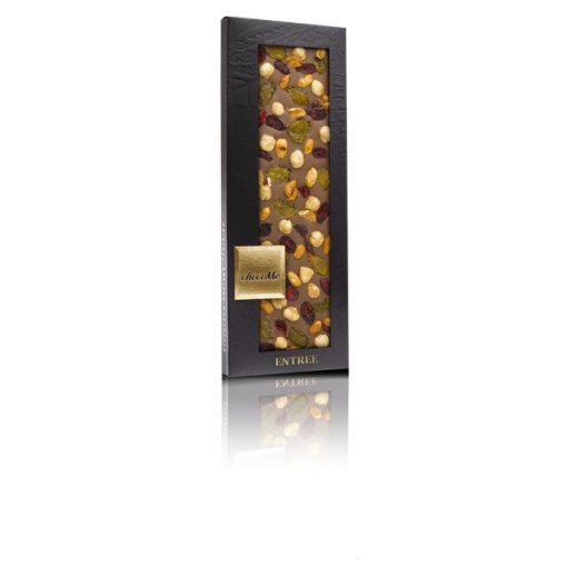ChocoMe tejcsokoládé (arany mazsola, vörösáfonya, Piemonte-i mézes mogyoró) - MG114