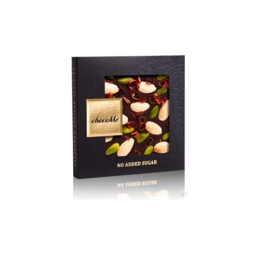 ChocoMe cukormentes étcsokoládé (chili, mandula, pisztácia) 50g - NS104