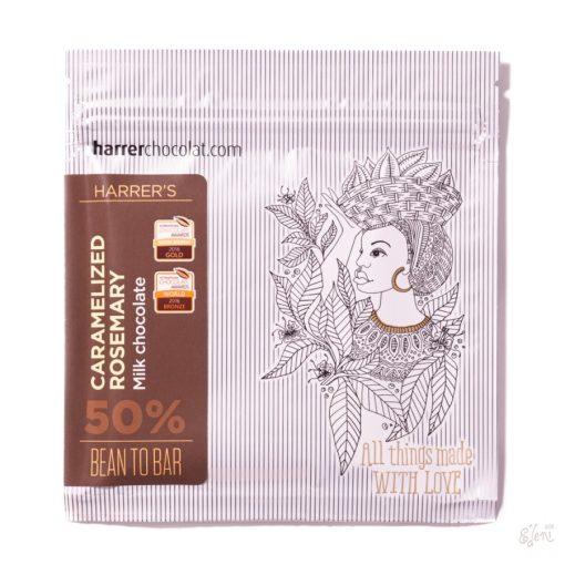 Harrer tejcsokoládé karamellizált rozmaringos  50g