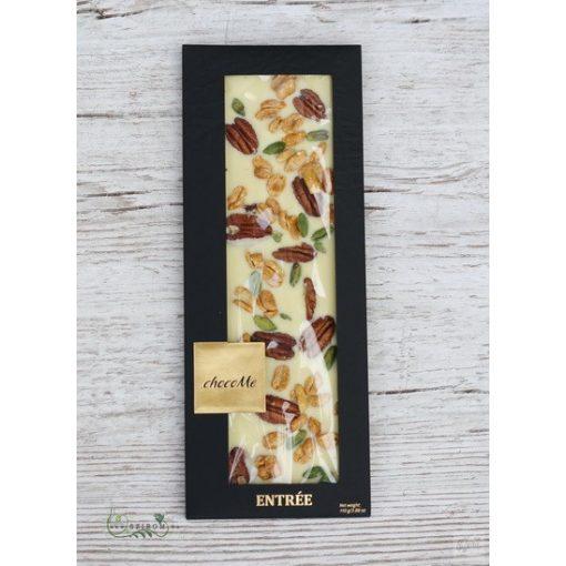 ChocoMe fehércsokoládé (pekándió, mézes mogyoró, brontei pisztácia) -M105