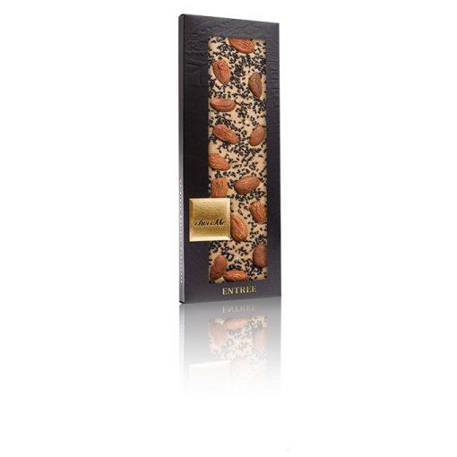 ChocoMe szőke csokoládé (Maldon só,fekete szezám, szicíliai mandula) -BL101