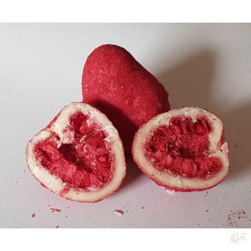 Liofilizált málnaszemek fehércsokoládéban (10g)
