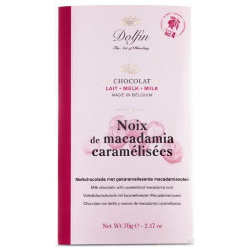 Dolfin tejcsokoládé karamellizált makadámdióval 70g