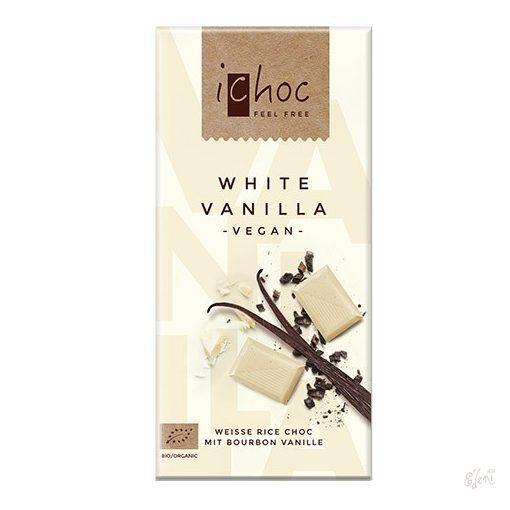 iChoc Bio rizstejes fehércsokoládé vaníliával 80g