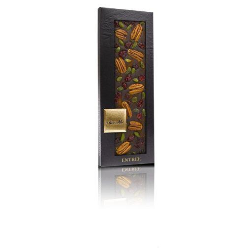 ChocoMe étcsokoládé (fahéj, vörösáfonya, Brontei pisztácia, pekándió) - F101