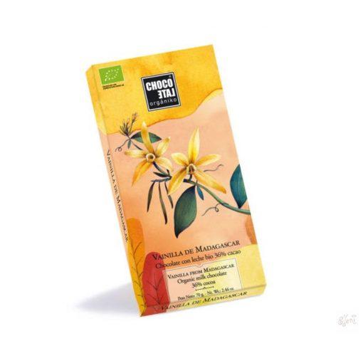 ChocoLate Orgániko tejcsokoládé vaníliával 70g